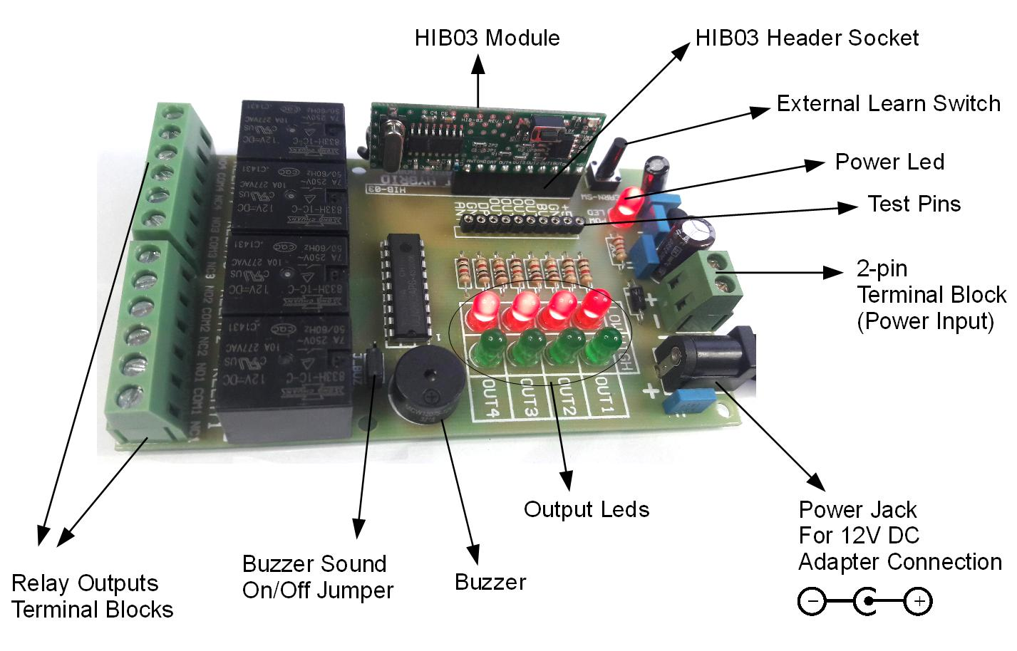 Hib03 Evb Relay Terminal Board For Schematic Diagram Of